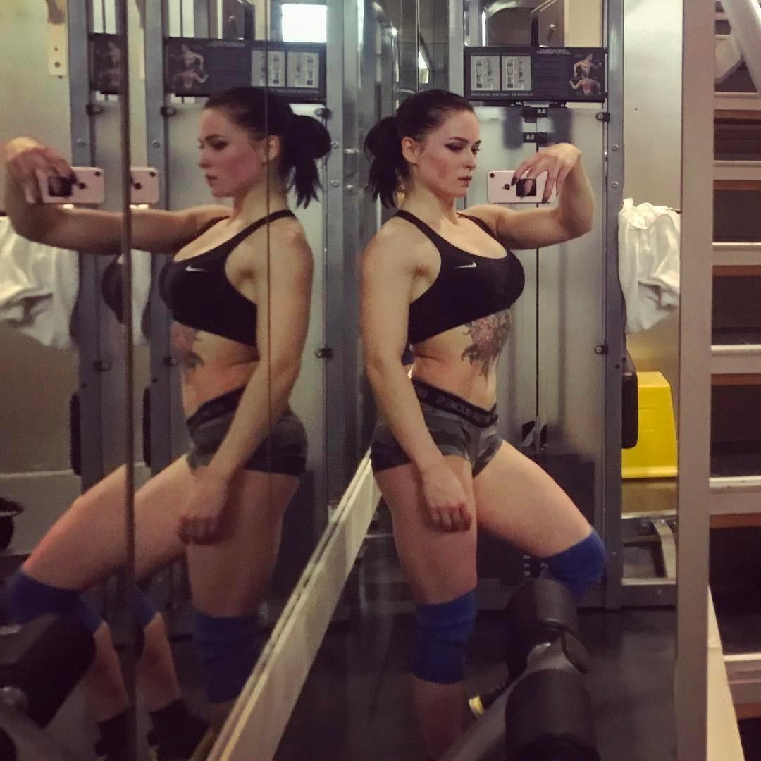 Girl escort fitness Female Bodybuilder